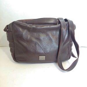 Kooba deep purple leather crossbody handbag